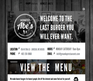 Honest Abes Burgers Delivery Lincoln Ne