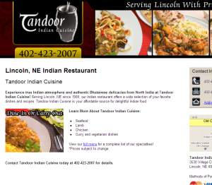 Tandoor Indian Delivery Lincoln Ne